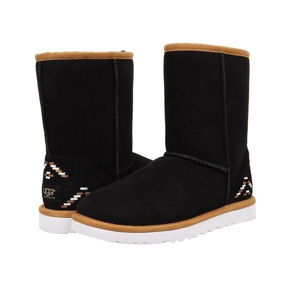 1e128711f53 NIB // UGG Classic Short Rustic Weave Boots